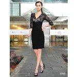 1a5b477bcaa2 Krátké pouzdrové šaty koktejlky s rukávem černá