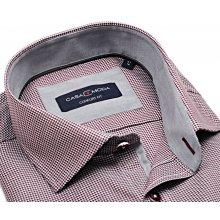 Casa Moda Comfort Fit Premium – luxusní košile s červeným vzorem a vnitřním  límcem dcbe86a9f4