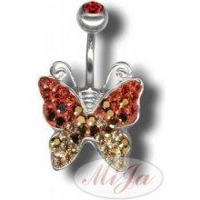Piercing s krystaly Swarovski Devil Heart F Tribal ATCDEVILHEART-F