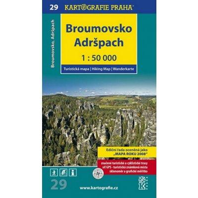 Kartografie Praha Broumovsko Adrspach Mapa 29 1 50 000 Heureka Cz