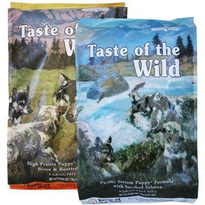 Taste of the Wild Pacific Stream Puppy 12,2 kg & High Prairie Puppy 13 kg