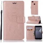 Pouzdro MFashion Xiaomi Redmi Note 5A Prime - růžové - lapač snů