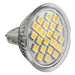 Forever Light LED žárovka 24×SMD 5050 GU5,3 230V 5W 370Lm Teplá bílá
