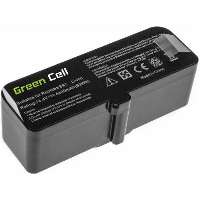 Baterie Green Cell iRobot Roomba 681 691 695 696 801 805 850 860 890 891 895 896 960 966 980 985 14.4V 4400mAh Li-ion - neoriginální (Green Cell PT225 4400mAh)