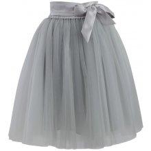 Chicwish dámská sukně Tutu Amore s mašlí šedá