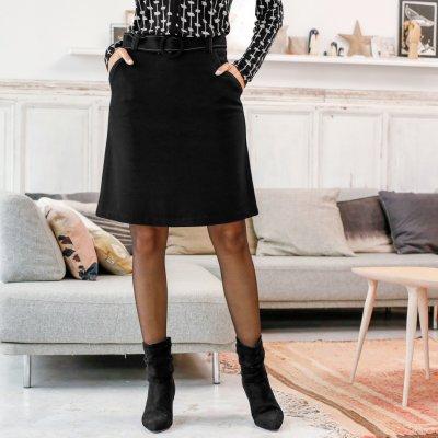 Sukně z Milano úpletu černá
