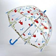 Fulton dětský průhledný holový deštník Funbrella 4 GONE FISHING C605 + dárek