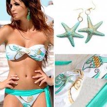 V&V Ocean Star dvoudílné plavky bílá