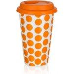Baquet Hrnek dvoustěnný se silikonovým víčkem Color Plus Orange 0,28l