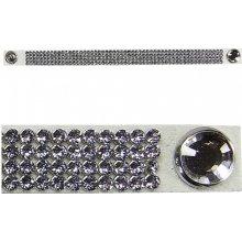 Náramek bílý třpytivý Swarovski Crystal Dazzle 779
