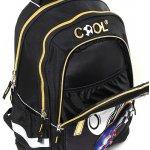 Goal batoh černý se zlatým zipem Cool
