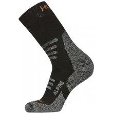 Husky ponožky Alpine černá/oranžová