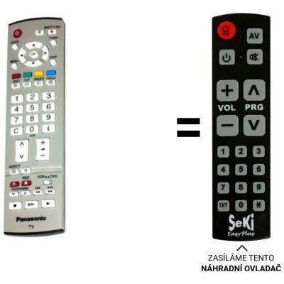 Senior Panasonic EUR7651090A, EUR765109A náhradní dálkový ovladač pro seniory.