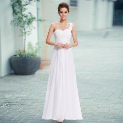 Dlouhé svatební šaty na rameno i pro těhotné bílá e210bc917c