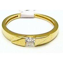 f4a26fdad Mohutný zásnubní zlatý prsten se zirkonem 585/r H404