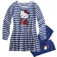 Komplet šaty a legíny HELLO KITTY modré
