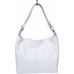 0e068ac498 Kabelka kožená kabelka na rameno 729 bílá