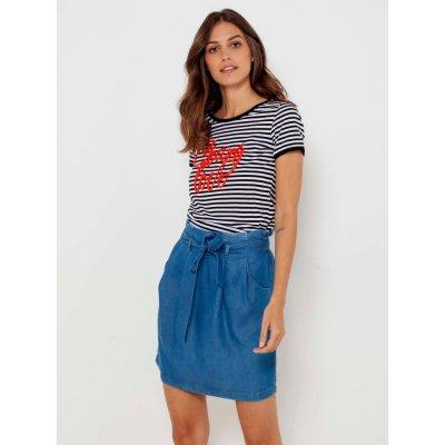Camaieu džínová sukně s kapsami modrá