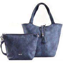 70d89e092b Bright kabelka vak + kapsa 2v1 přes rameno žíhaná větší A5 modrá