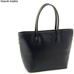 6a3cd82355 velká dámská kabelka kožená Shopper bag A4 tmavě modrá alternativy ...