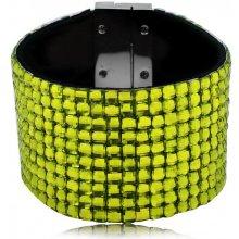 Shine bižuterní třpytivý barevný náramek zelený TN015