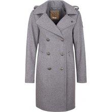 DreiMaster dámský kabát s příměsí vlny 390 839 graumelange