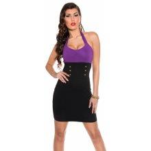 Koucla dámské mini šaty s knoflíky 2038 fialová 65acc4e95a7