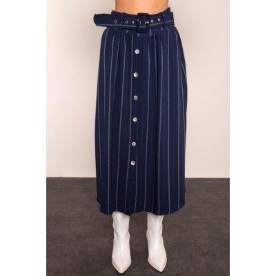 BSL pruhovaná sukně modrá