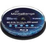 MediaRange BD-R 50GB 6x, cakebox, 10ks (MR507)