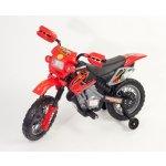 Kids World Elektrická motorka Enduro-červená