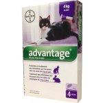 Advantage 80 10% pro kočky nad 4 kg 4x0,8ml