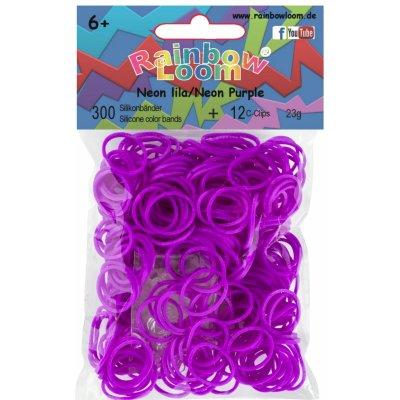 RAINBOW LOOM Original gumičky 300 kusov neónové lila