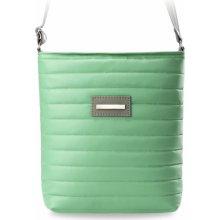 b343feb987 prošívaní dámská kabelka listonoška neonové a pastelové barvy zelená