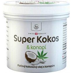 Herbamedicus kokosový olej Super Kokos s konopím pleťový 150 ml
