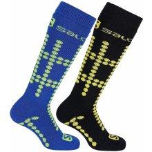 ponožky Salomon Team JR 2 Pack Bud Green/Corona 30