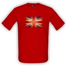 e04d847dcbc1 T-shock tričko s potiskem Anglická vlajka pánské Červená