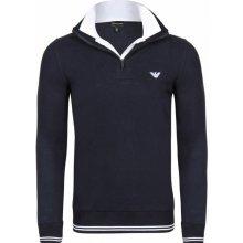 ARMANI pánský svetr na zip tmavě modrý