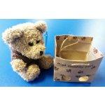 Medvídek s kapucí v papírové tašce světle hnědý