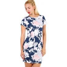 TopMode dámské květované bavlněné šaty modrá 1ce965fc5c9