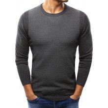 Pánský antracitový svetr (wx1001)