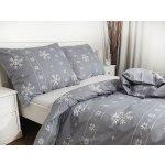 Písecké lůžkoviny bavlna povlak na polštář 70x90 - Vánoční šedý