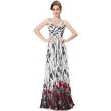 Dlouhé letní šifonové šaty na rameno bílá 34c8de0f3f