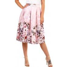 d3d12df14034 YooY dámská skládaná retro sukně světle růžová 335620