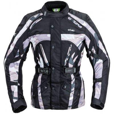 Pánská moto bunda W-TEC Troopa Barva Black Camo, Velikost S