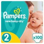 Pampers New Baby-dry 2 mini 3-6 kg 100 ks