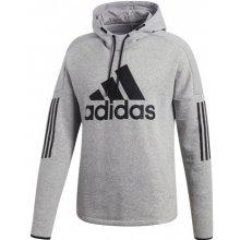2a2e9c1baeb3 Adidas Performance Mikina s kapucí SOLID LOGO Pulovr FLEECE šedá
