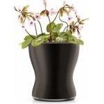 Eva Solo Skleněný samozavlažovací květináč na bylinky, černá 13cm 568255