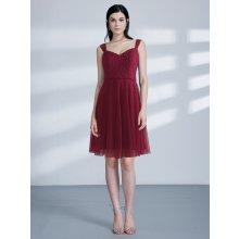 Ever Pretty krátké šaty s krajkou 3044 bordo 6f62a3a9b3