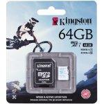 Kingston microSDXC 64GB UHS-I U3 + adaptér SDCAC/64GB