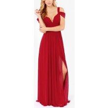 Červené plesové šaty